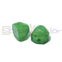 Media bola Facetada aguas blancas 13x14x12 mm - Verde