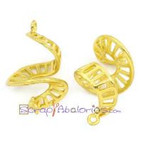 Filigrana dorada espirales 22x12  mm ( 2 uds)