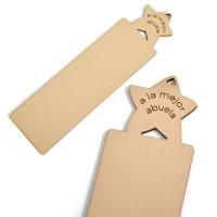 Marcapagina madera a la mejor Abuela estrella 150x40 mm-