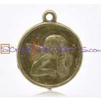 Colgante medalla angelote bronce 19.5x 13 mm