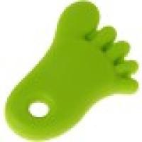 Figura silicona 70x50 mm- Mordedor colgante pie verde lima 16