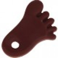 Figura silicona 70x50 mm- Mordedor colgante pie chocolate 23