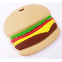 Figura silicona 76x81 mm- Mordedor hamburguesa
