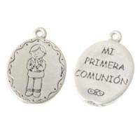 """Colgante medalla Zamak NIÑO Mi primera comunion"""""""" 24x18 mm"""