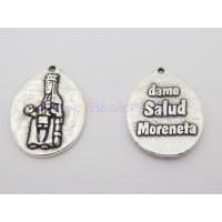 Medalla zamak Virgen Moreneta ( Dame salud Moreneta) 20x27 mm