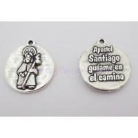 Medalla zamak Santiago apostol ( guíame en el camino) 21 mm
