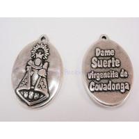 Medalla zamak Virgen de Covadonga (Dame suerte) 20x27 mm