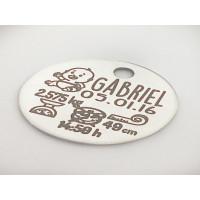 Natalicio acero inoxidable moneda 20 mm  personalizado ac-002