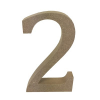 Numero en DM- Altura aprox 12 cm- Grosor 2 cm- Numero 2