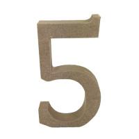 Numero en DM- Altura aprox 12 cm- Grosor 2 cm- Numero 5