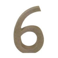 Numero en DM- Altura aprox 12 cm- Grosor 2 cm- Numero 6