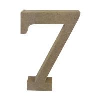 Numero en DM- Altura aprox 12 cm- Grosor 2 cm- Numero 7