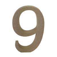 Numero en DM- Altura aprox 12 cm- Grosor 2 cm- Numero 9