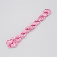 Cordon de nylon 1 mm macrame rosa bebe ( madeja 28 m)