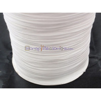 Cordon de nylon 1 mm macrame blanco ( 1 metro)