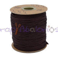 Cordon de nylon 1 mm macrame marrón oscuro ( 1 m)