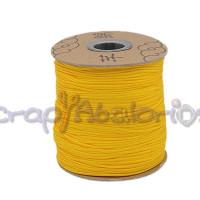 Cordon de nylon 1 mm macrame amarillo huevo ( 1 m)