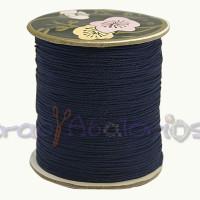 Cordon de nylon 0.8 mm macrame azul marino ( 1 m)