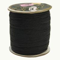 Bobina de cordon de nylon 0.8 mm macrame negro ( 120 m)