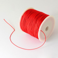 Cordon de nylon 0.5  mm macrame rojo ( 1 m)