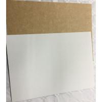 Cartulina A4 -Cartulina kraft bicolor 350gr Kraft -Blanco