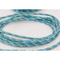 Cordón paracaidista 2.5 mm color turquesa ( 1 metro)