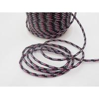 Cordón paracaidista 2.5 mm color negro dibujo ( 1 metro)