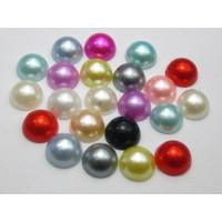 Perlas 8 mm base plana ( para pegar) mix colores ( 20 uds)
