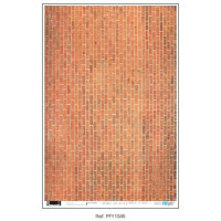 Papel cartonaje 32x48.3 cm- Casita muñecas ladrillos PFY-1045