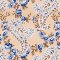 Papel cartonaje 32x48.3 cm-  Paisley dorado azul PYF469