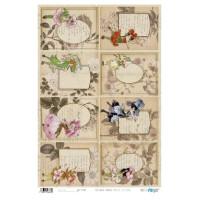 Papel cartonaje 32x48.3 cm- Hadas de las flores PFY663