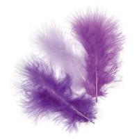 Plumas de marabu 9 cm - Bolsita 15 plumas - violetas