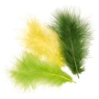 Plumas de marabu 9 cm - Bolsita 15 plumas - verdes