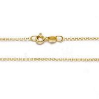 Cadena gargantilla collar rolo plata de ley con baño oro- 1 mm (50cm)