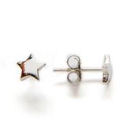 Pendiente plata de ley - Estrella 3 mm   ( 1 par)