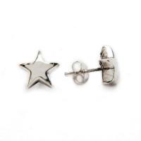 Pendiente plata de ley estrella 10 mm (1 par)