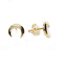 Pendiente plata de ley - Luna Invertida 9x8mm (1 par) dorado