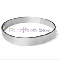 Base pulsera Zamak baño de plata maciza 70 mm con cierre