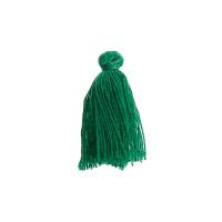 Pompon borla de hilo algodon 30 mm COLOR verde (5 uds)