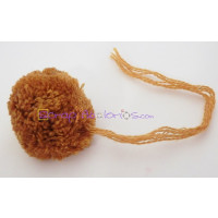 Pompon borla 30 mm redondo color CAMEL