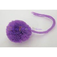 Pompon borla 30 mm redondo color MORADO
