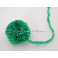 Pompon borla 30 mm redondo color VERDE