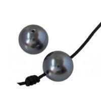 Perla Swarovski 5817 12 mm. gris oscuro 1 ud