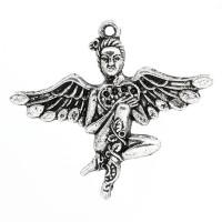 Colgante charm plateado angel hada 46x40 mm