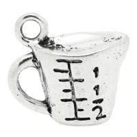 Colgante charm plateado jarra de medidas de cocina 23x14 mm