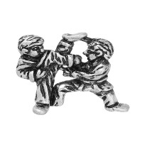 Colgante plata tibetana deporte judo/karate  21x20  mm