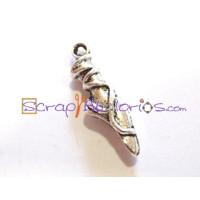 Colgante charm zapatilla punta ballet 20x6 mm