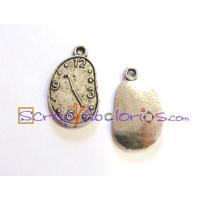 Colgante charm reloj oval 22x13 mm