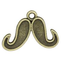 Colgante charm bronce bigote moustache 22x15 mm