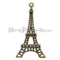 Colgante charm bronce torre Eiffel 43x24 mm